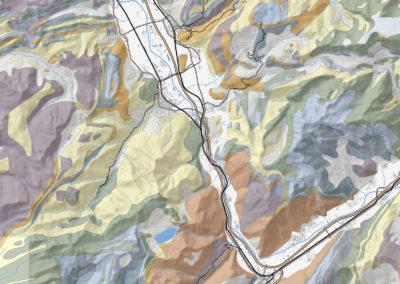 Carte géologique simplifiée Via GeoAlpina