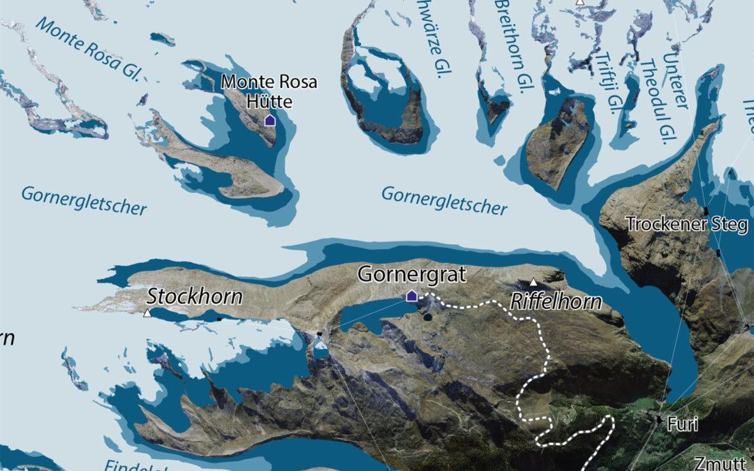 Reconstitution glaciaire au Gornergrat