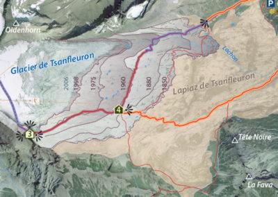 Carte géotouristique de Tsanfleuron