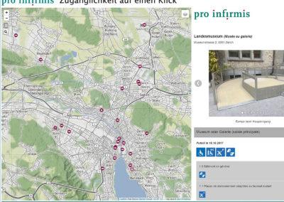 Carte interactive Pro Infirmis