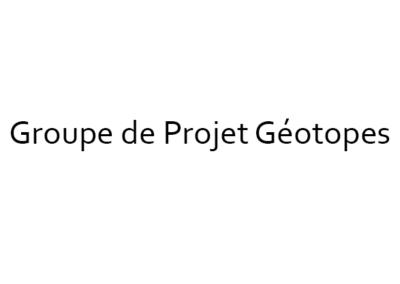 Groupe de Projet Géotopes – Platform Geosciences