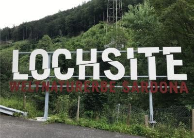L'affleurement Lochsite est bien indiqué et aménagé.