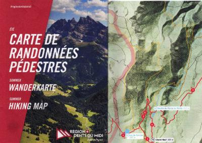 Carte de randonnées pédestres