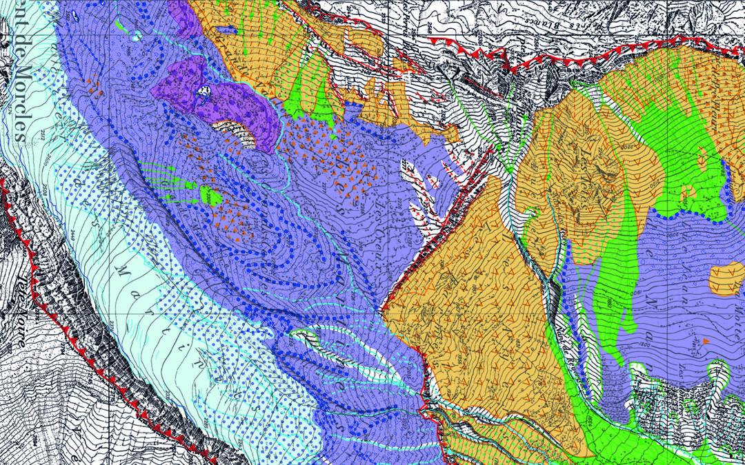 Etude et carte géomorphologique