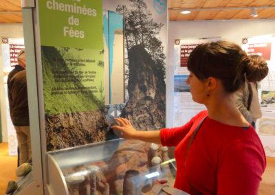Un des trois modules interactifs de l'exposition