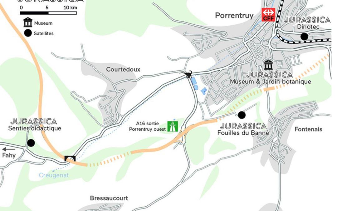 Plan d'accès pour Jurassica