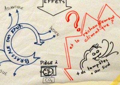 Traduction en dessins d'un article sur les causes et effets des courants océaniques