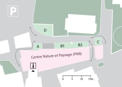 Plan actuel de l'espace situé au Nord du centre Nature et Paysage.