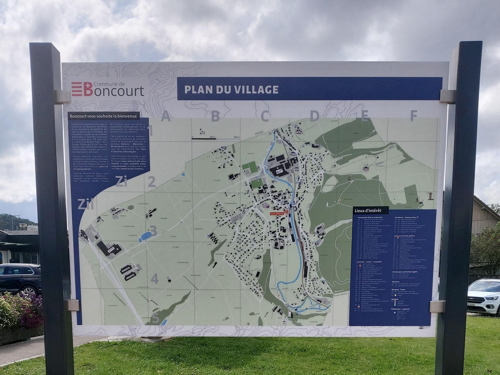 Plan de village à Boncourt