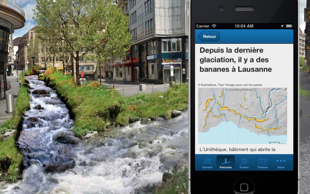 Sentier sur smartphone: le GéoGuide Lausanne