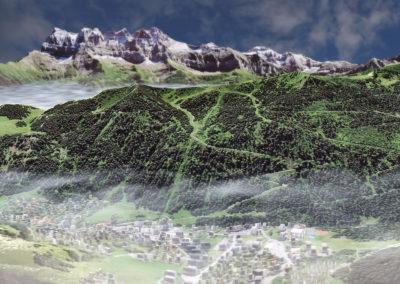 Vues 3D pour itinéraires de downhill